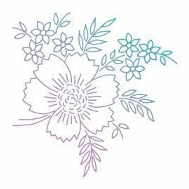Couture Creations Le Petit Jardin Mini Stamp - Floral Arrangement