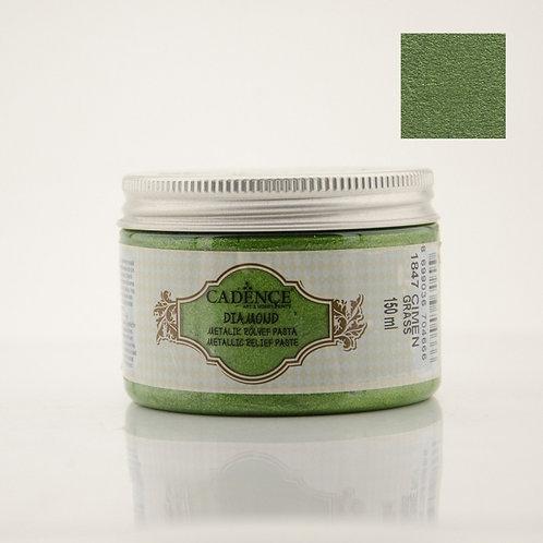 Cadence Diamond Metallic Relief Paste - Grass