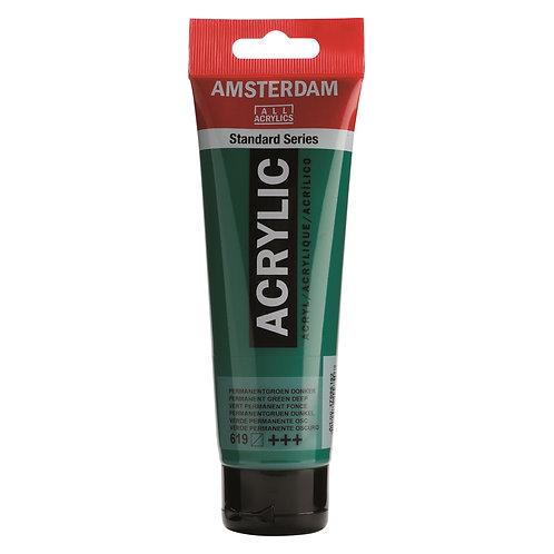 Amsterdam Standard Series Acrylic Paint - Permanent Green Deep