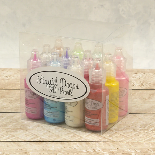 Ultimate Crafts Liquid Drops 3D Pearls - Set of 12