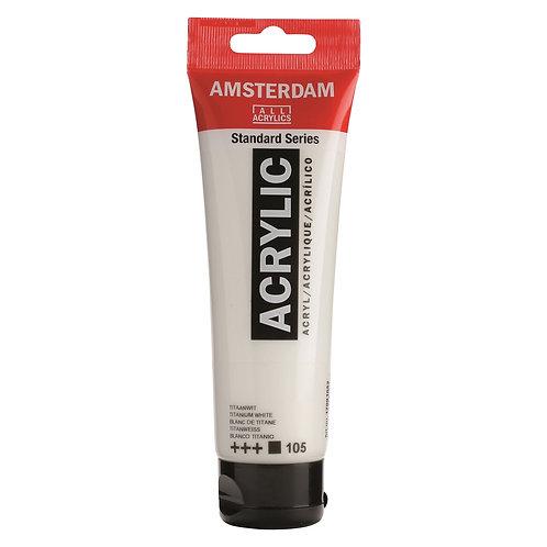 Amsterdam Standard Series Acrylic Paint - Titanium White