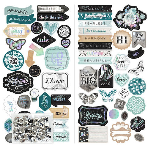 Prima Marketing Zella Teal Chipboard