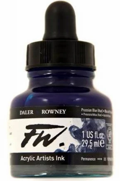 FW Acrylic Artist Ink - Prussian Blue Hue