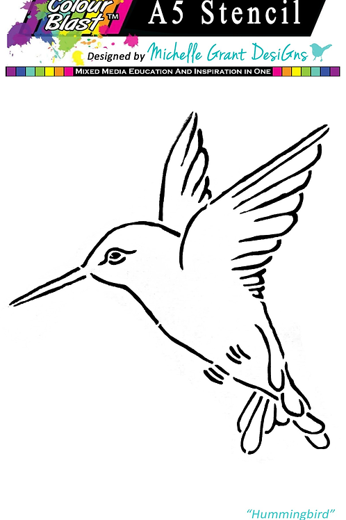 Bee Arty - Flight of Fantasy - Bird A5 Stencil