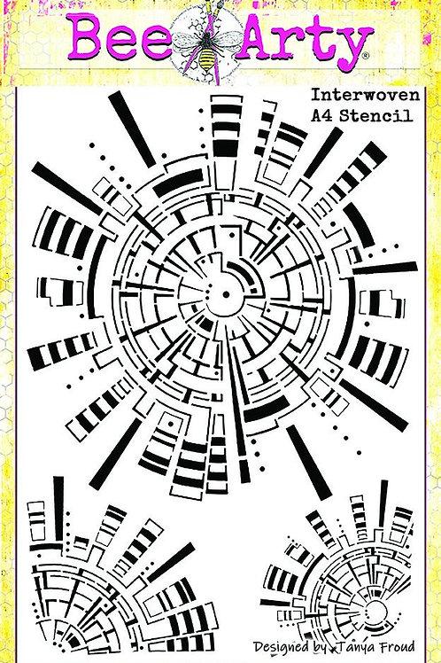 Bee Arty - three six five - Interwoven A5 Stencil