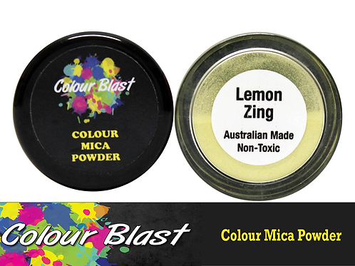 Colour Blast by Bee Arty Colour Mica Powder - Lemon Zing