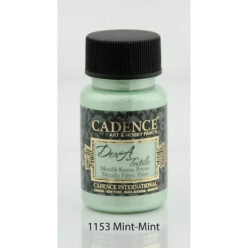 Cadence Dora Metallic Fabric Paint - 1153 Mint