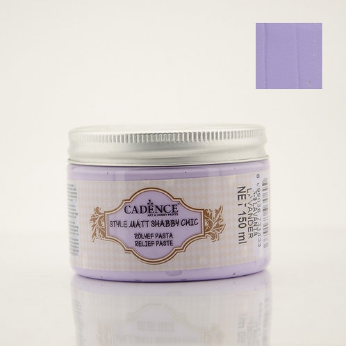 Cadence Style Matt Shabby Chic Relief Paste - Lavender