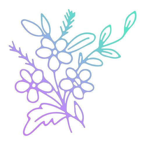 Couture Creations Le Petit Jardin Mini Stamp - Jasmine Flowers
