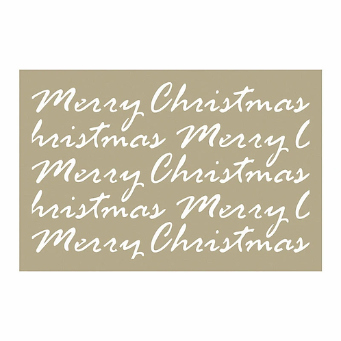 Couture Creations Be Merry - Merry Christmast Script Stencil