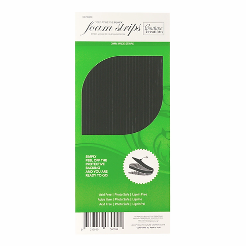 Couture Creations Black Foam Strips