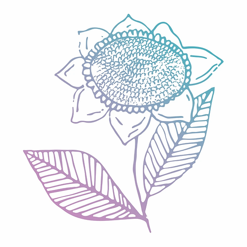 Couture Creations Le Petit Jardin Mini Stamp - Sunflower
