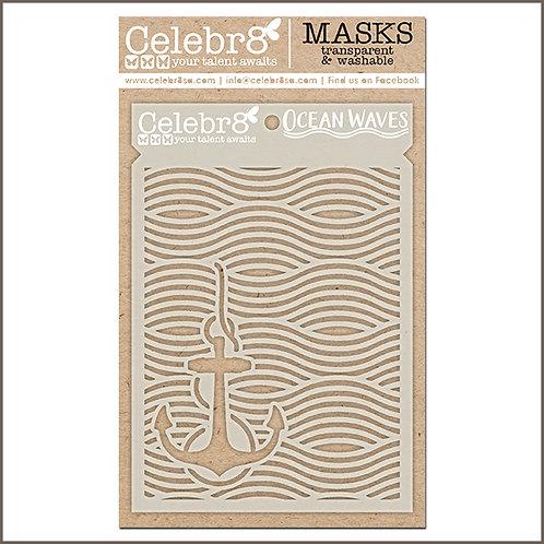Celebr8 - Ocean Waves Stencil