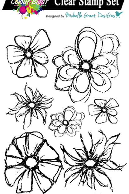 Bee Arty - Floral Delights 2 Clear Stamp Set