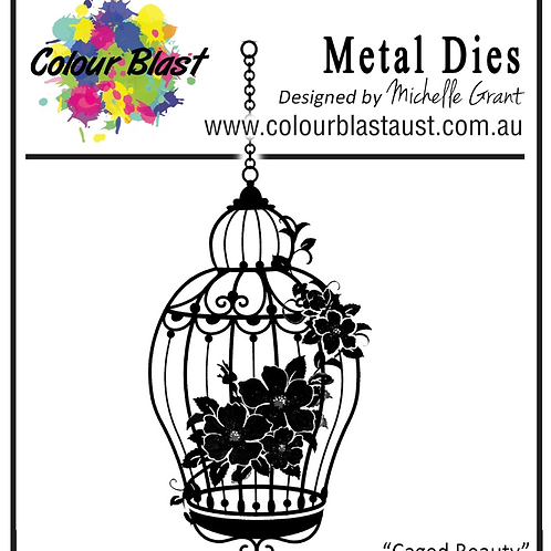 Bee Arty - Butterfly Stardust - Caged Beauty Metal Die