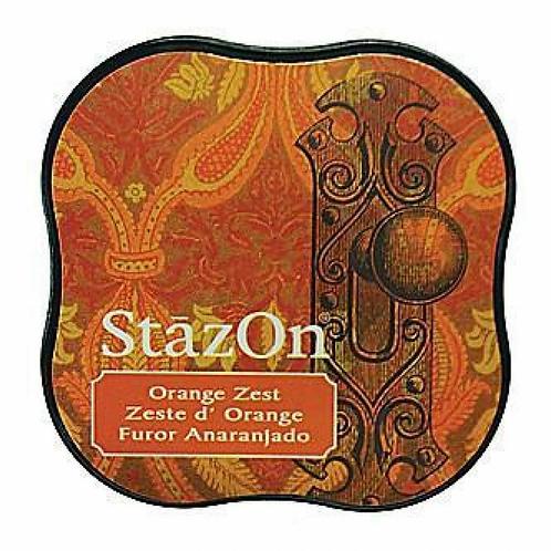 StazOn Midi Ink Pad - Orange Zest