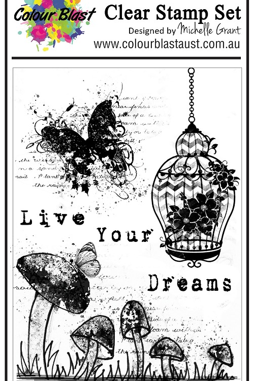Bee Arty - Butterfly Stardust - Live Your Dream Stamp Set