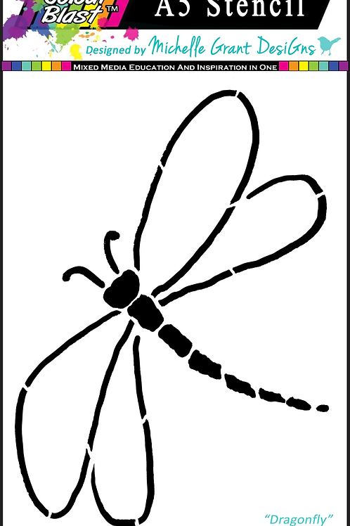 Bee Arty - Flight of Fantasy - Dragonfly A5 Stencil