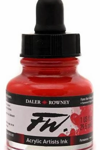 FW Acrylic Artist Ink - Flame Red