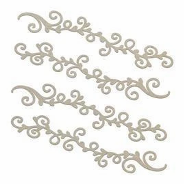 Couture Creations Chipboard - Swirling Borders
