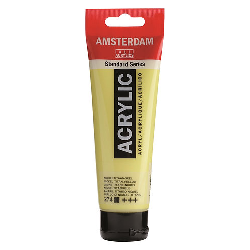 Amsterdam Standard Series Acrylic Paint - Nickel Titanium Yellow