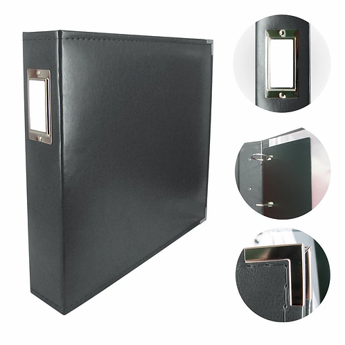 Couture Creations Classic Superior Leather Album - Black
