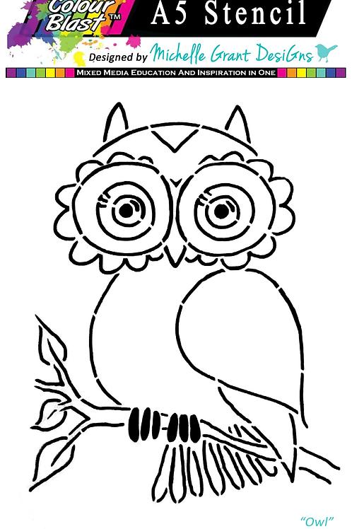 Bee Arty - Flight of Fantasy - Owl A5 Stencil