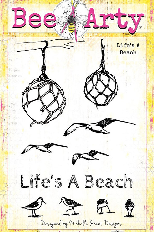Bee Arty - Life's a Beach - Life's a Beach Clear Stamp Set