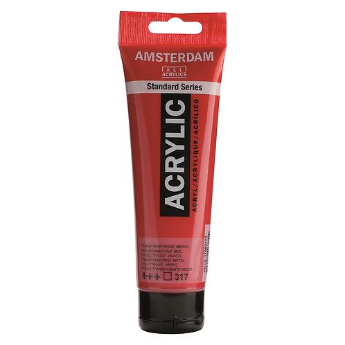 Amsterdam Standard Series Acrylic Paint - Transparent Red Medium