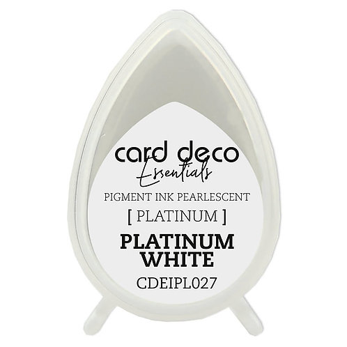 Couture Creations Card Deco Pearlescent Pigment Ink - Platinum White