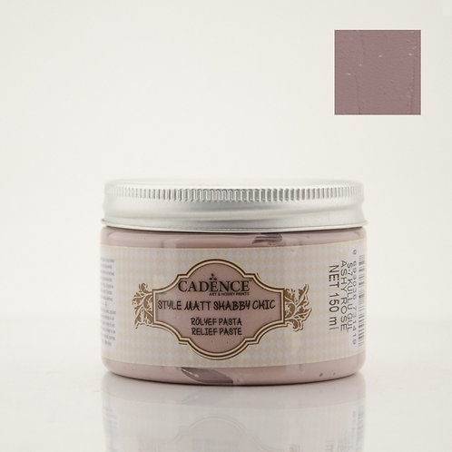 Cadence Style Matt Shabby Chic Relief Paste - Ashy Rose