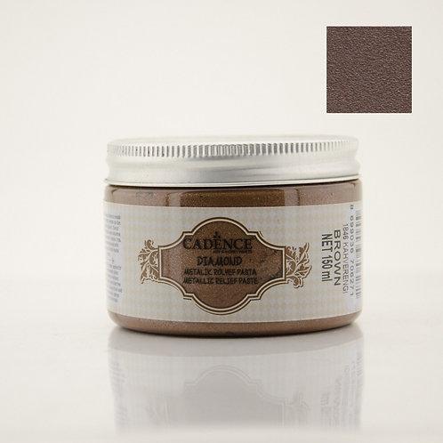Cadence Diamond Metallic Relief Paste - Brown