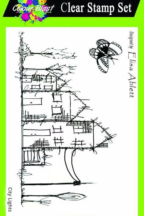 Bee Arty - City Lights Clear Stamp Set