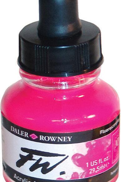 FW Acrylic Artist Ink - Fluroescent Pink
