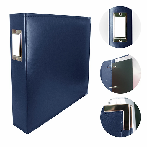 Couture Creations Classic Superior Leather Album - Dark Blue