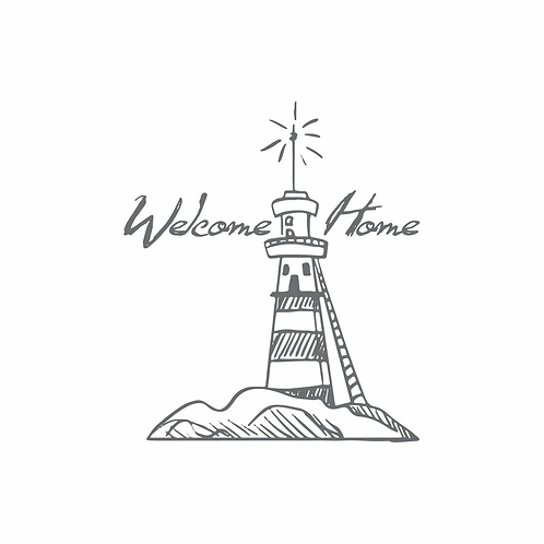 Couture Creations Seaside and Me Mini Stamp - Welcome Lighthouse