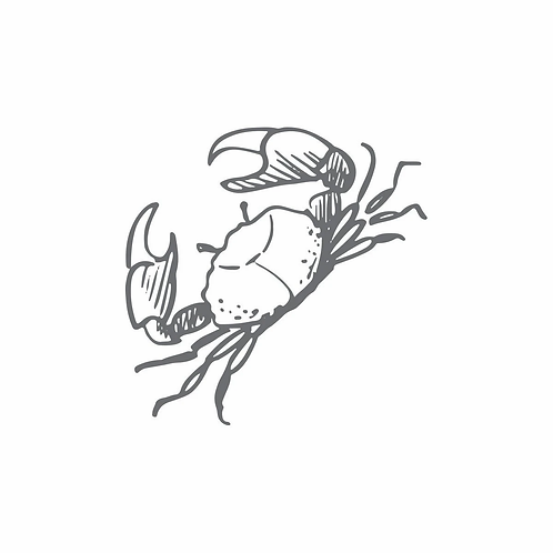Couture Creations Seaside and Me Mini Stamp - Crab