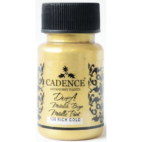 Cadence Dora Metallic Paint - 136 Rich Gold