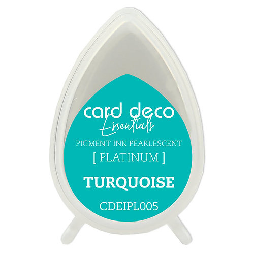 Couture Creations Card Deco Pearlescent Pigment Ink - Turquoise