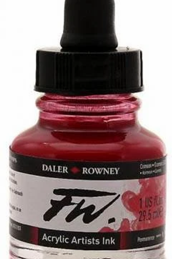 FW Acrylic Artist Ink - Crimson