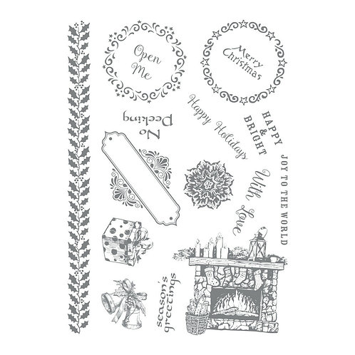 Couture Creations Let Every Day Be Christmas - Happy Holidays Stamp Set