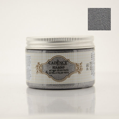 Cadence Diamond Metallic Relief Paste - Silver
