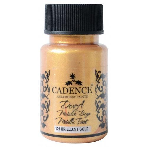Cadence Dora Metallic Paint - 121 Brilliant Gold