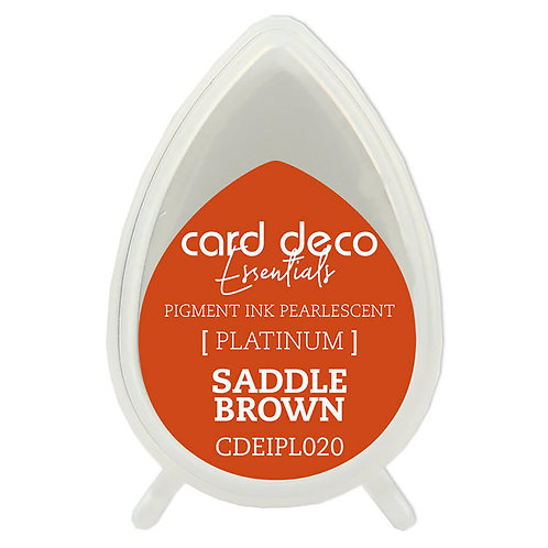 Couture Creations Card Deco Pearlescent Pigment Ink - Saddle Brown