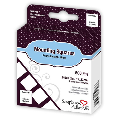 Scrapbook Adhesives - Mounting Squares (Initially Repositionable)