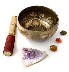Singing Bowl and Crystals