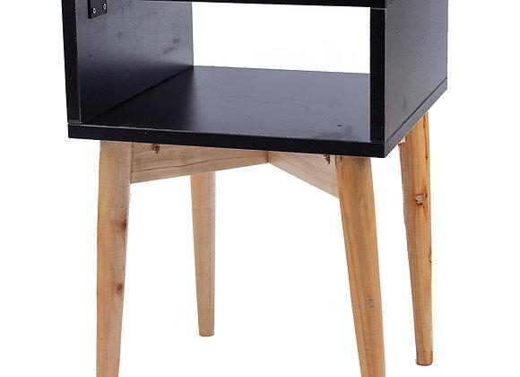 Black + Cypress Pegleg Nightstand