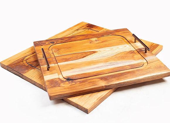 Lathed rectangular trays