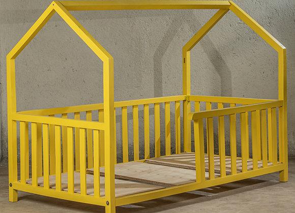 Yellow baby cot