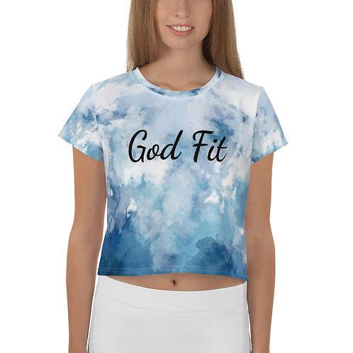 U Change God Fit Crop Tee